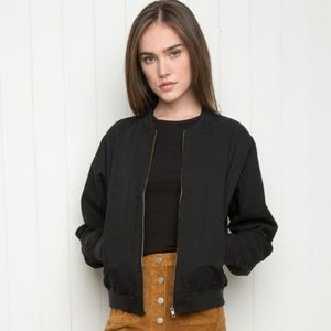 "Brandy Melville ""Kasey"" Cotton Bomber Jacket OS"